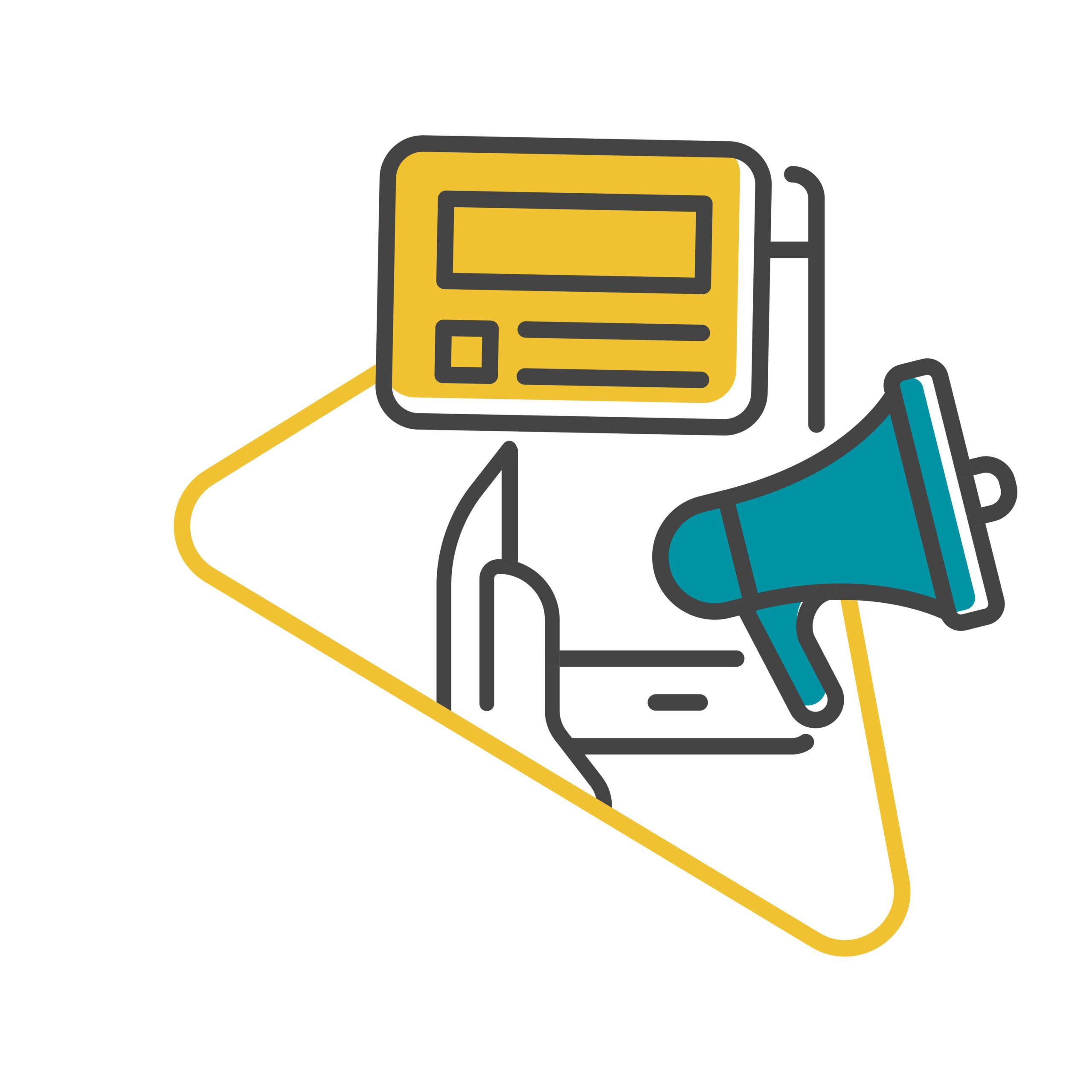 Tech, and finance social media copywriting agency illustration