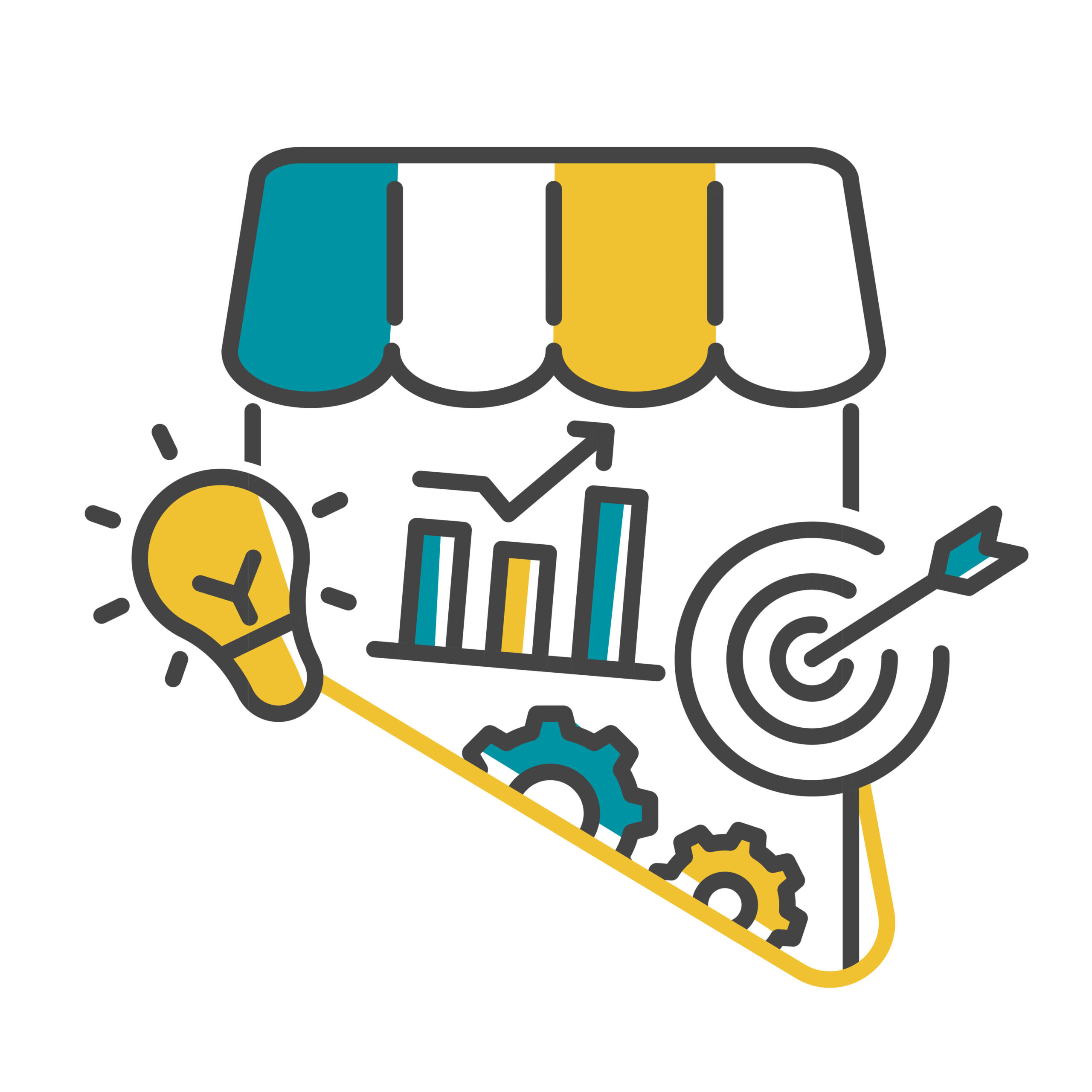 B2B, tech and finance content writing specialisation illustration